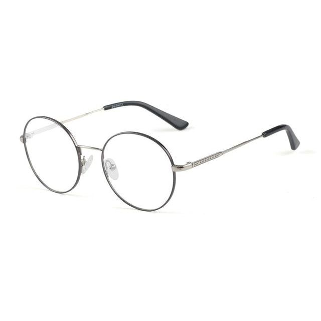Grey Jack Frame Kacamata Anti Radiasi Blue Ray Metal Fashion Bulat 1