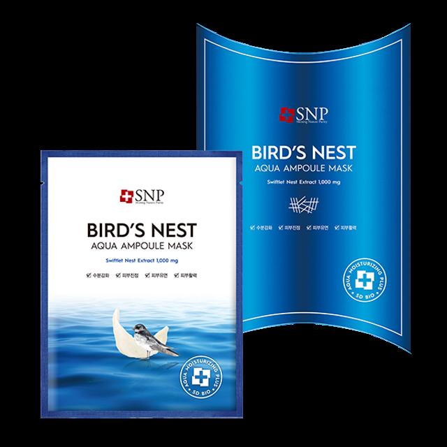SNP Bird's Nest Aqua Ampoule Mask 1