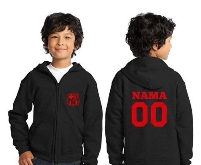 Zalfa Kids Clothing Hoodie Jacket Barcelona Zipper (dengan nama anak) 1