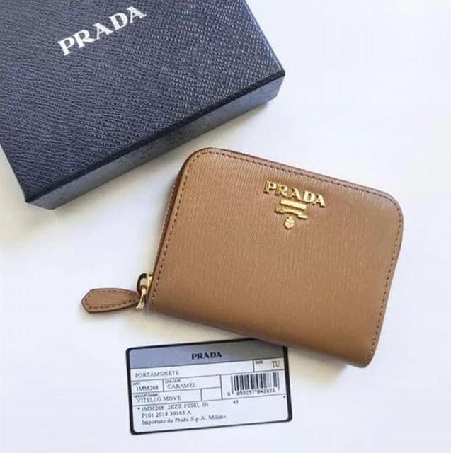 Prada Saffiano Leather Coin Purse 1