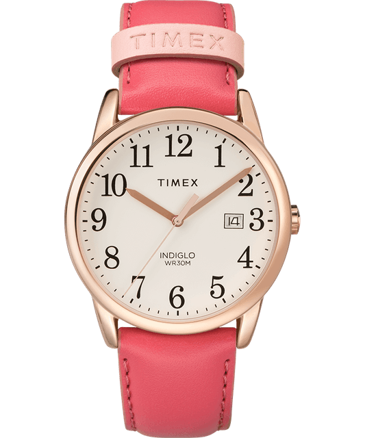 Timex Easy Reader Color Pop 38mm Leather Strap Watch 1