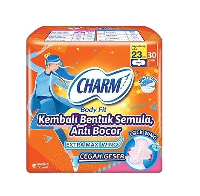 Unicharm CHARM Body Fit Extra Maxi Wing 23 cm 1