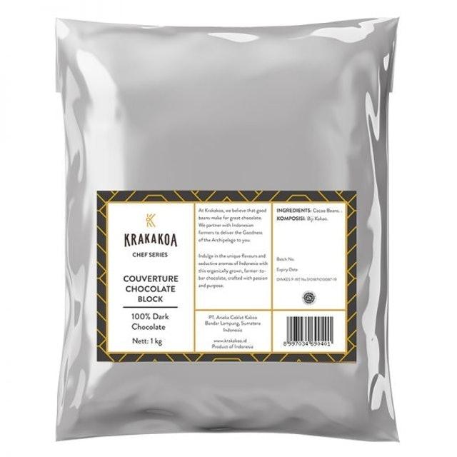Krakakoa 100% Dark Chocolate Couverture 1