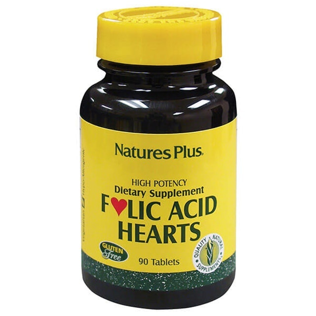 Natural Organics Natures Plus Folic Acid Hearts Tablets 1