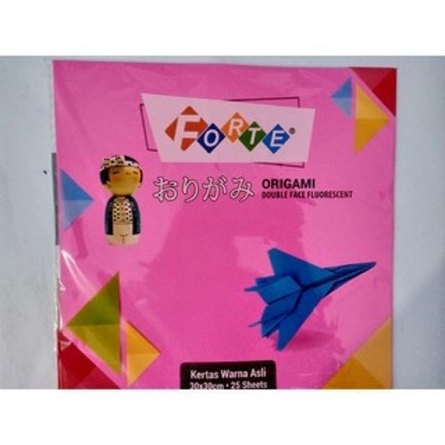Forte Origami Double Face Fluorescent (30 cm x 30 cm) 1
