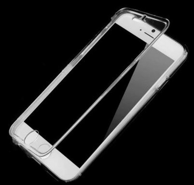 Clear Horizontal TPU Case for iPhone 6s Plus 1