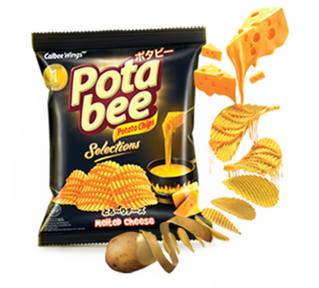 Calbee Wings Potabee Selections Melted Cheese 1