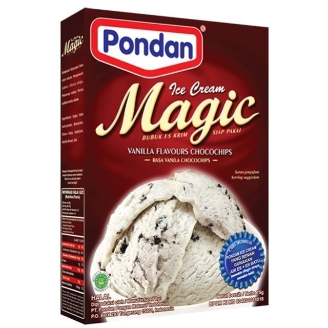 Pondan Pangan Makmur Pondan Ice Cream Magic Vanilla 1
