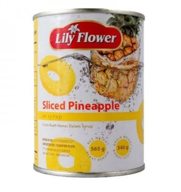 Lily Flower Sliced Pineapple in Syrup 1
