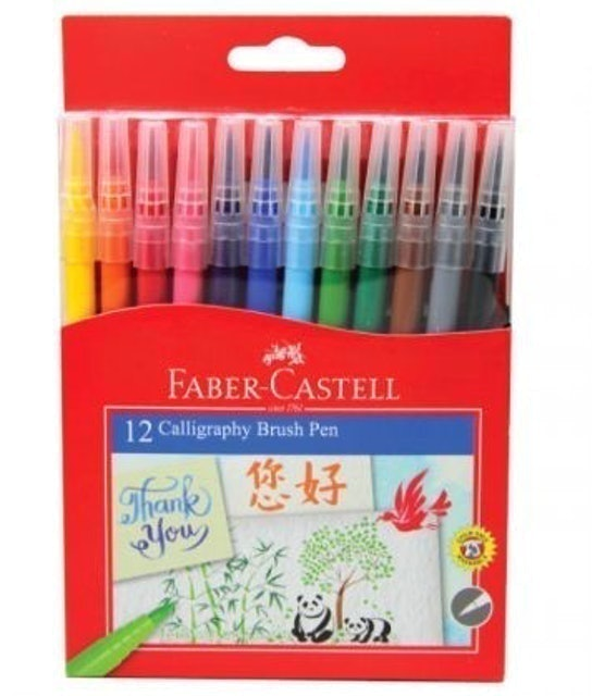 Faber-Castell Calligraphy Brush Pen set 12 1