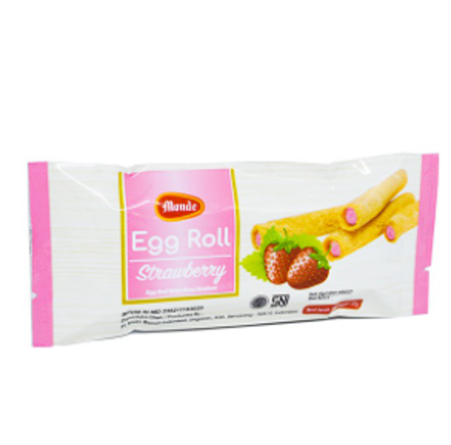 Nissin Biscuit Indonesia  Monde Egg Roll Strawberry  1