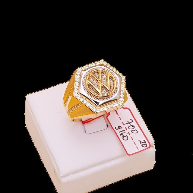 Riz La Riz Gold  Cincin Pria Model Segi Enam  1