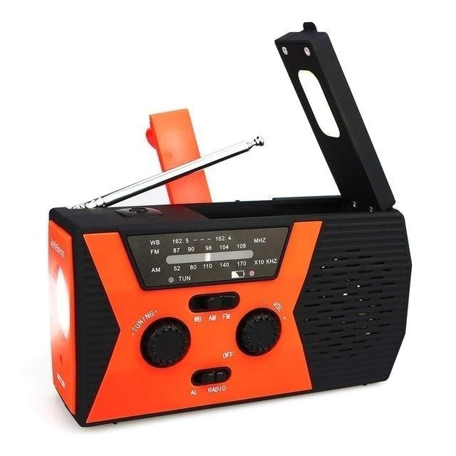 Shenzhen Retekess Technology Retekess HR12W Emergency Handheld Radio With Flashlight NOAA 1
