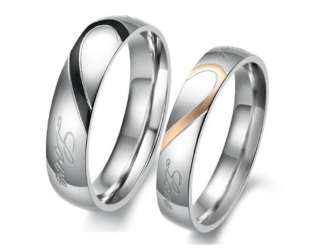 Cincin Couple Love Titanium 1
