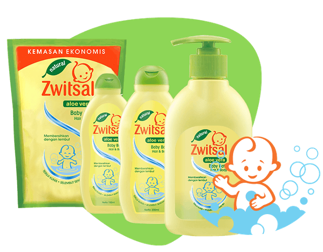 Unilever Zwitsal Baby Bath Natural 2in1 Hair and Body 1