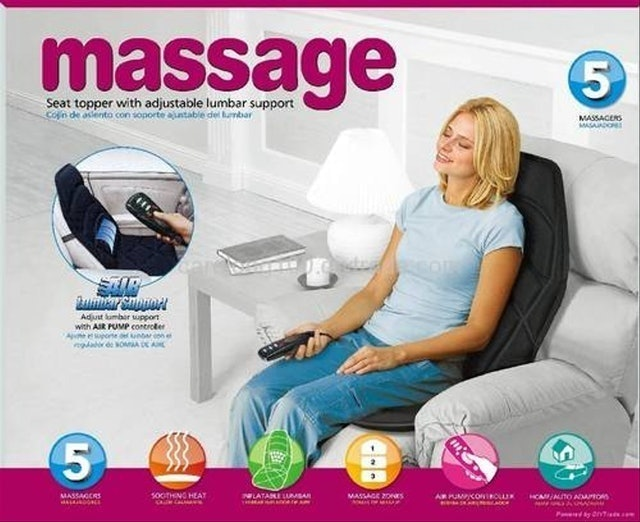 Massage Seat Topper with Adjustable Lumbar Support 1