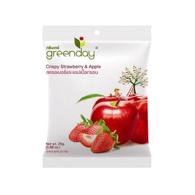 AS World Trading Greenday Crispy Strawberry & Apple 1