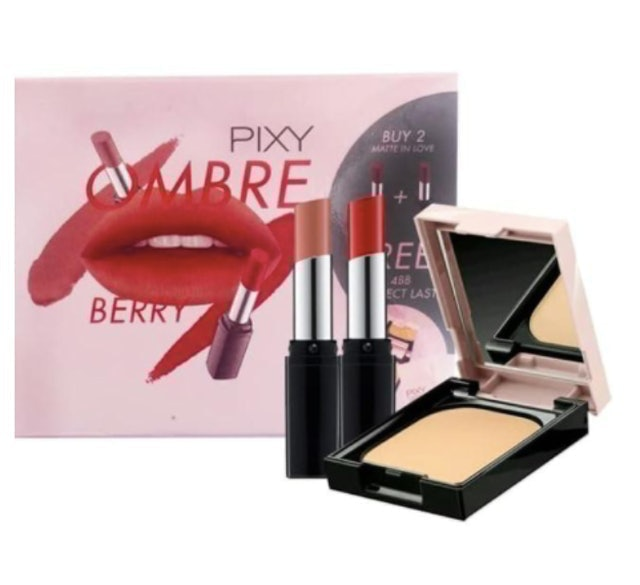 Mandom Indonesia Pixy Ombre Lips Set 1