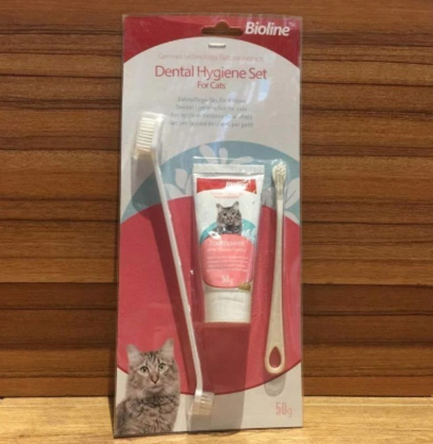 Bioline Dental Hygiene Set for Cats 1