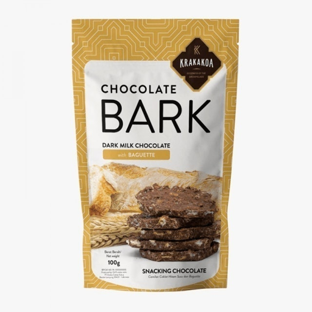 Krakakoa Chocolate Bark, Dark Milk Chocolate with Baguette 1