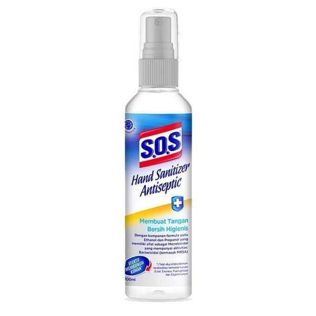 S.O.S Anti Bacterial SOS Hand Sanitizer Antiseptic Spray 1