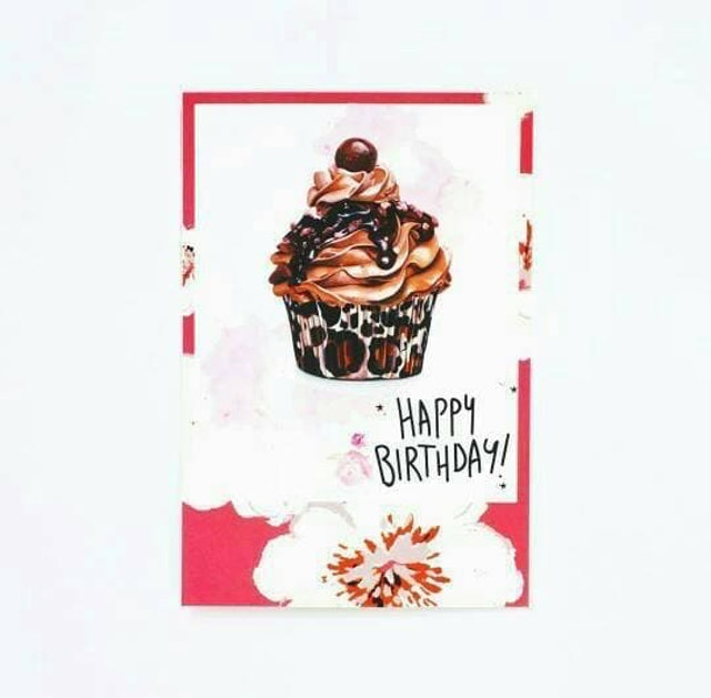 Birthday Cupcake Postcard 1