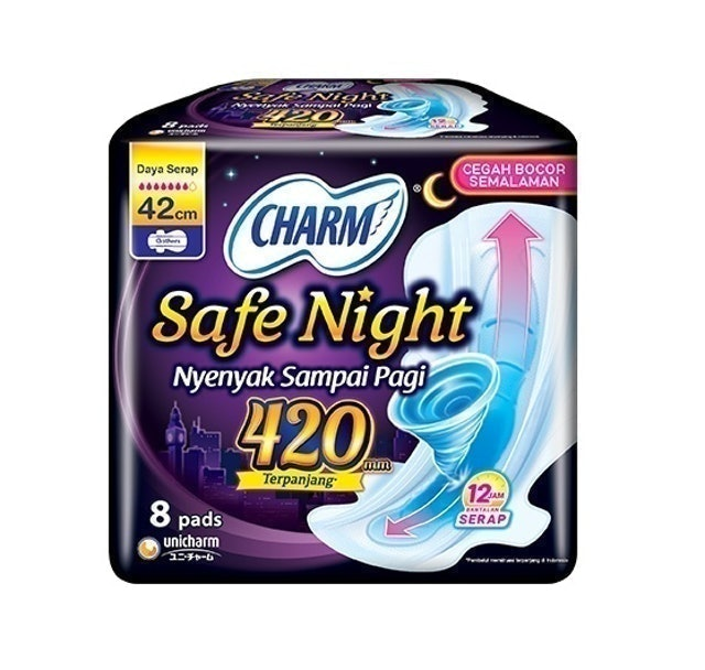 Unicharm CHARM Safe Night Gathers 42 cm 1
