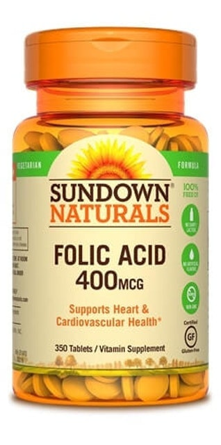 Sundown Naturals  Folic Acid 400 MCG 1