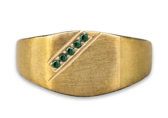 Sorcery Ring KL Cincin Emas Putih Hitam Permata Premium 1
