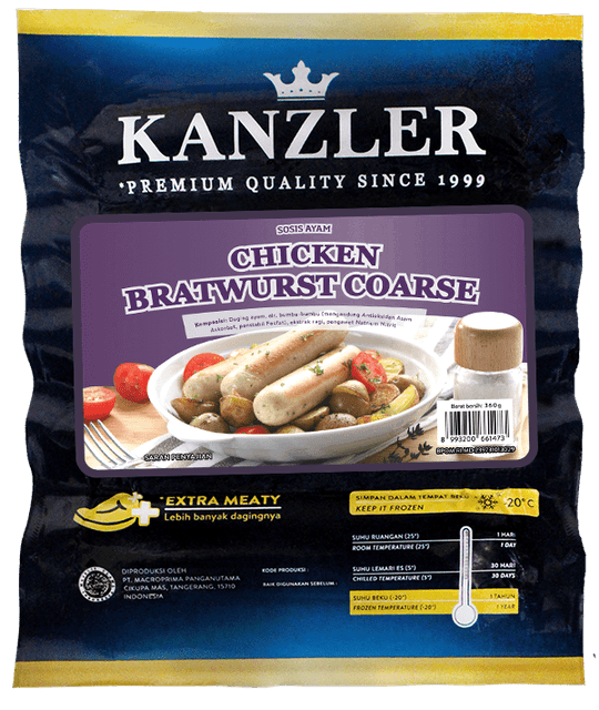 Kanzler - Cimory Indonesia Chicken Bratwurst Coarse 1