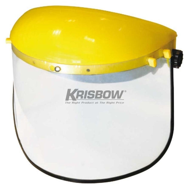 Krisbow Face Shield Head Gear with Clear Visor 1