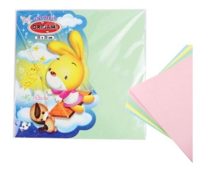 Kertas Lipat Origami Pastel 1