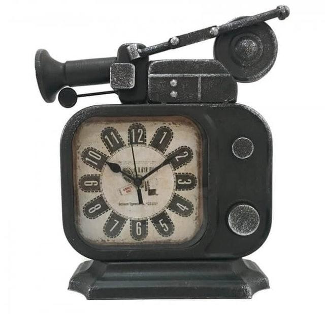Vintage Retro Old TV Table Clock 1
