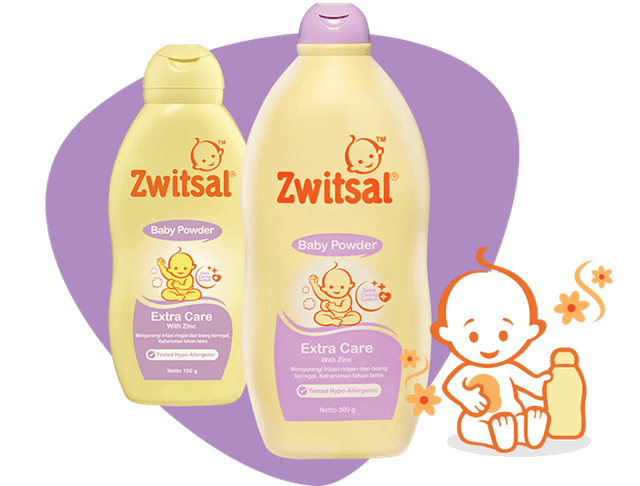 Unilever  Zwitsal Baby Powder Extra Care with Zinc 1