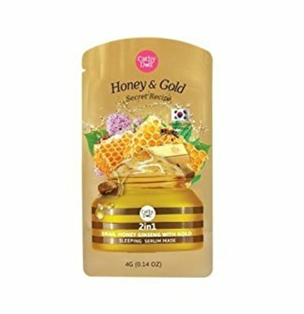 Cathy Doll  Secret Recipe 2in1 Snail Honey Ginseng With Gold Sleeping Serum Mask 1