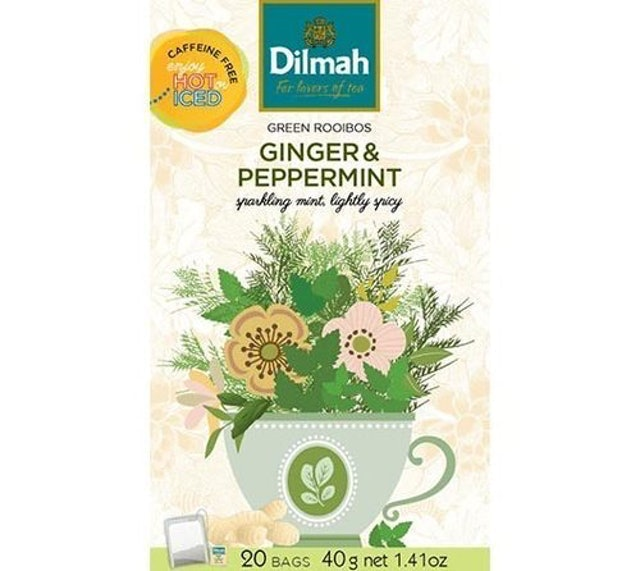 Dilmah Green Rooibos Ginger & Peppermint 1