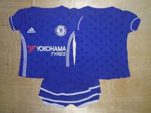 Setelan Baju Bola Anak perempuan Rok Chelsea  1