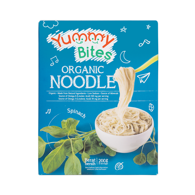 Yummy Bites Organic Noodle Spinach 1