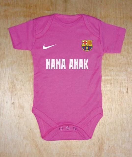 Baju Bola Bayi Barca Pink Tua 1