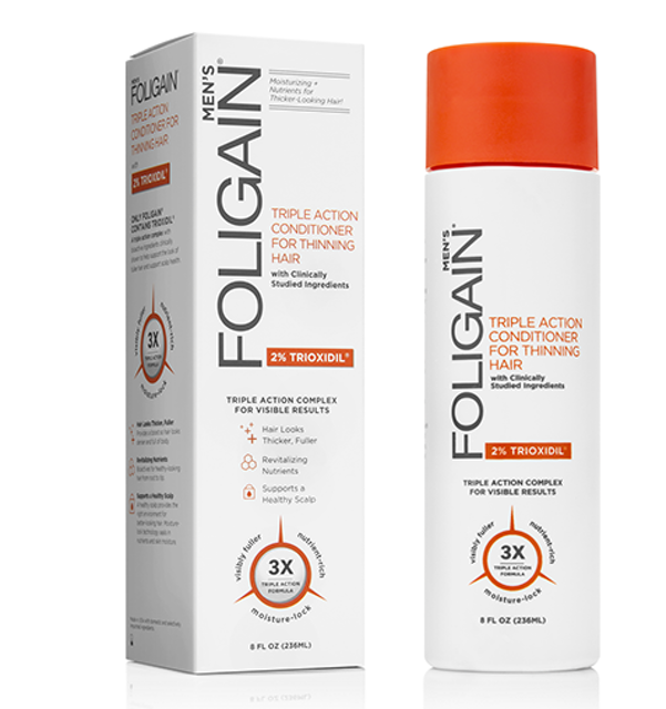 WR Group FOLIGAIN Men's Triple Action Conditioner for Thinning Hair  1