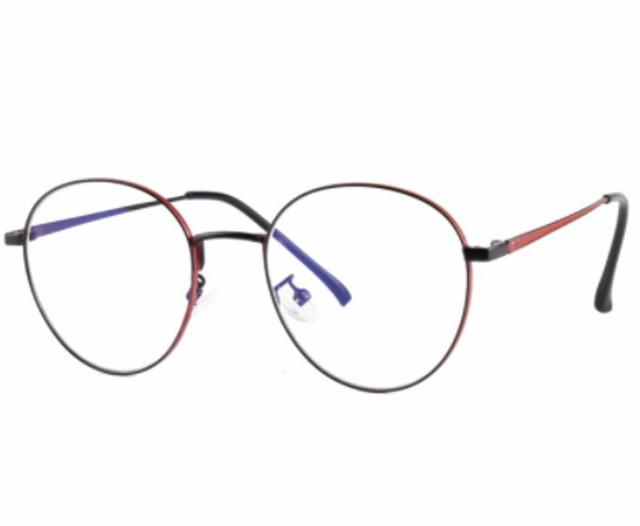 Berry Barton Kacamata Bulat Modern Lensa Minus Anti Blueray Photocromic 1