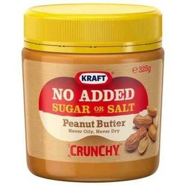 Kraft No Added Salt or Sugar Peanut Butter 1