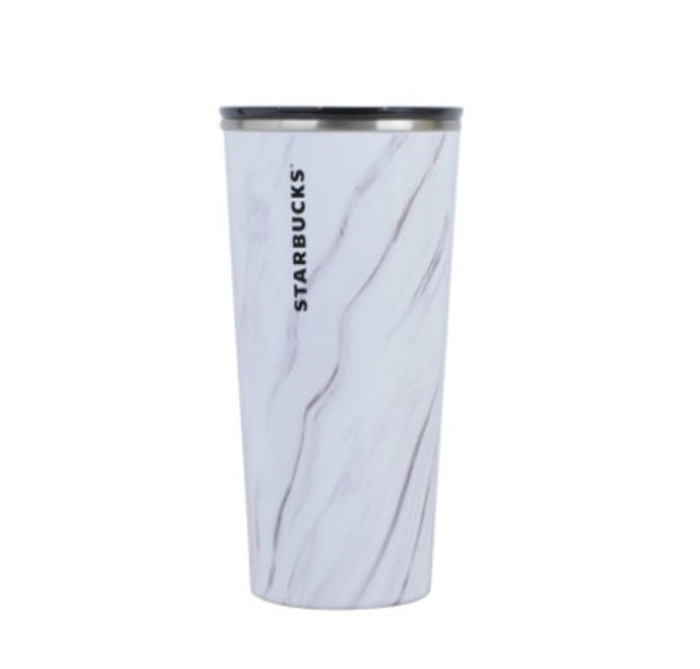Starbucks Tumbler Double Wall Stainless Steel White Marble Core  1