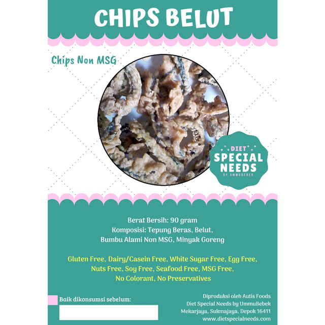 Diet Special Needs by Ummubebek Chips Keripik Belut Non MSG 1