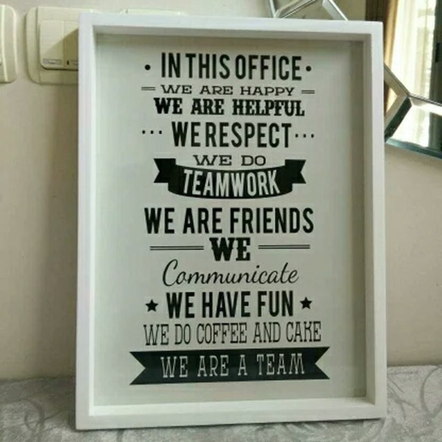 Wooden Poster In This Office 1