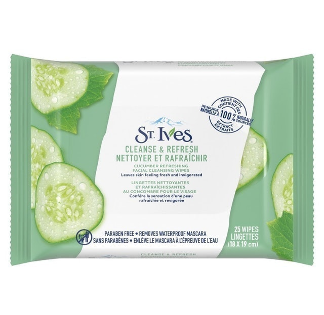 Unilever St. Ives Clean & Refresh Cucumber Wipes 1