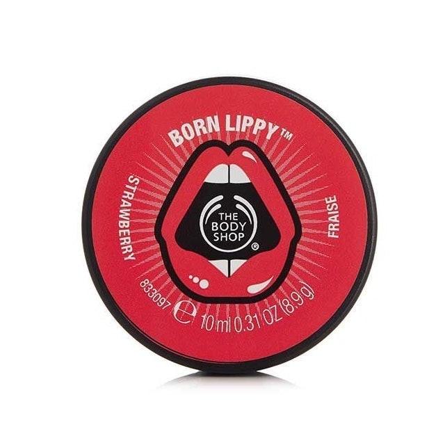 The Body Shop Born Lippy Lip Balm Strawberry 1