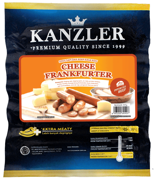 Kanzler - Cimory Indonesia Cheese Frankfurter 1