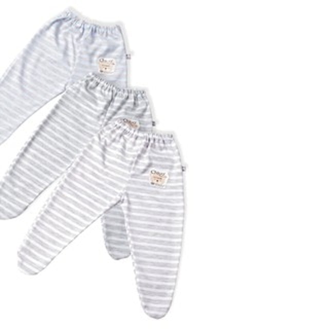 Chiyo Celana Bayi Tutup Kaki Motif Misty Stripe 1