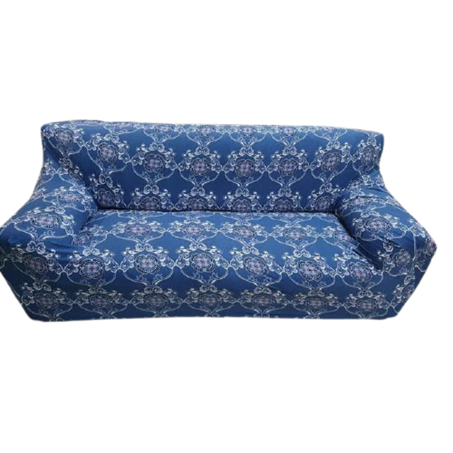 Cover Sofa 2 Seater Motif Batik Biru 1